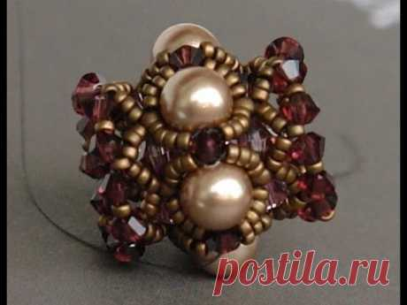 How to make a beaded bead - Free and easy beading tutorial by Sidonia's handmade jewelry