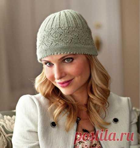 Красивая шапка вязаная спицами схема. Вязать шапку спицами женскую   Домоводство для всей семьи.
