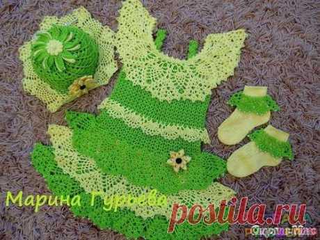 Сарафанчик и шляпка - Платье.Сарафан - Вязание для детей - Рукоделие