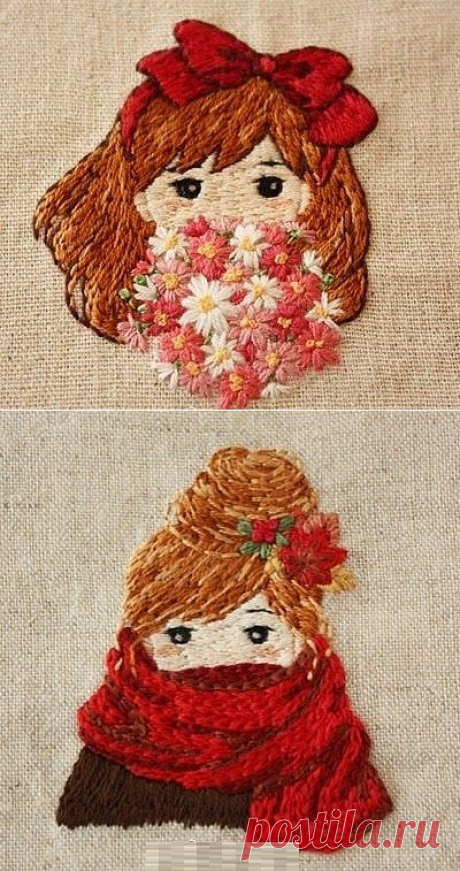 Embroidery. Children's subject. Ideas.