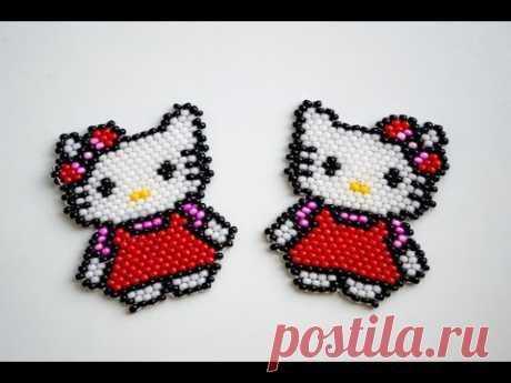 #Hello Kitty from beads. Toy Hello Kitty.