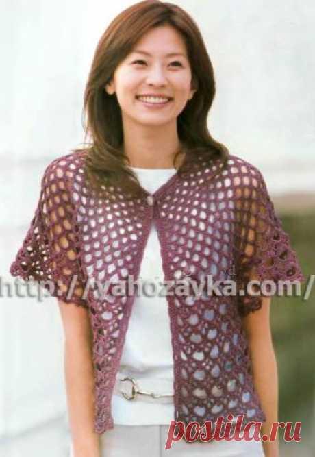 Схема вязания спицами легкого летнего жакета - вязание для домохозяек.