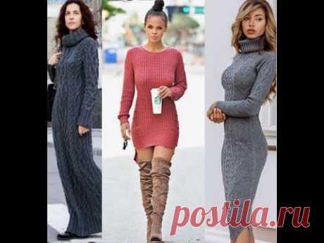 Идеи на любой вкус для вдохновения связать платье; от самого простого до сложного, от мини до макси.