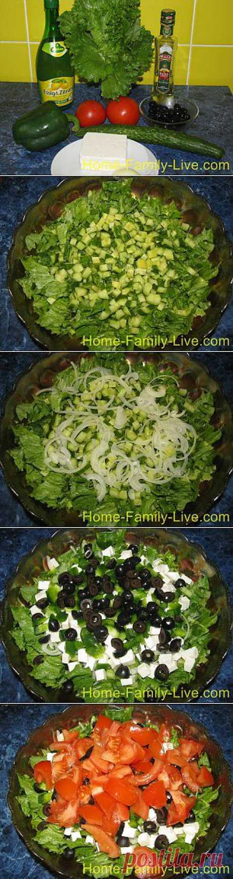 Кулинарные рецепты Салат Греческий рецепт с пошаговым фото греческий салат