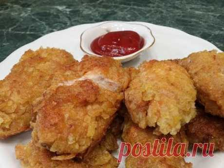 Быстрый Ужин достойный праздничного стола.🍗Курица в чипсах.Наггетсы из курицы.Chicken in chips - YouTube