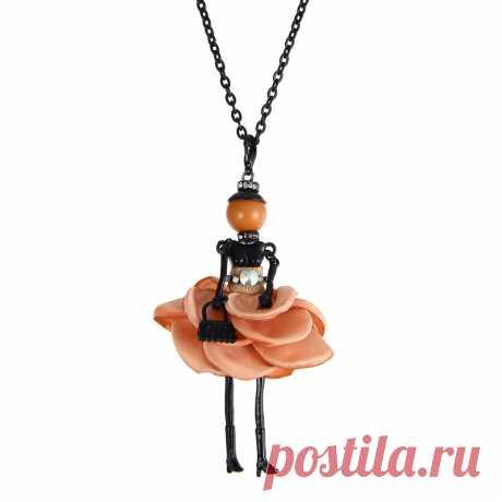 Ожерелье с куклой в прекрасном платье подвески Длинная цепочка новые модные брелки ювелирные изделия для женщин девушек стильные аксессуары Подарки оптовая продажа|fashion jewelry|jewelry fashionjewelry style | АлиЭкспресс