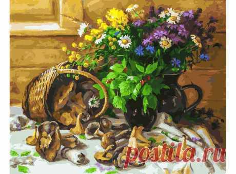 Букет и грибы 226-AB. Наборы для раскрашивания > Белоснежка > Цветы.