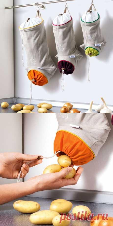 Шьем полезную сумочку для кухни. Мастер-класс.