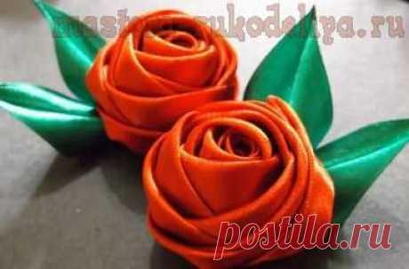 Мастера рукоделия - рукоделие для дома. Бесплатные мастер-классы, фото и видео уроки - Видео мастер-класс по цветам из лент: Атласные розы