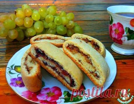 Печенье с вареньем и орехами – кулинарный рецепт