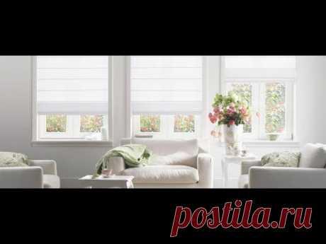 Стильные белые шторы в интерьере