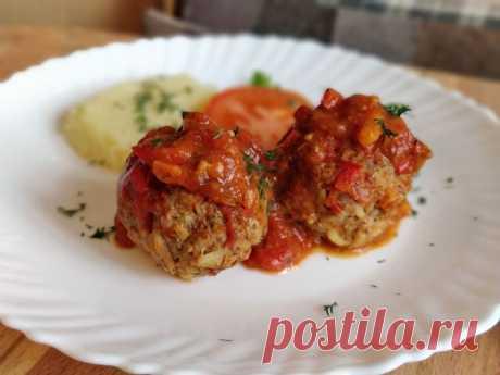 Тефтели в томатном соусе, просто, быстро и очень вкусно - Простые рецепты Овкусе.ру