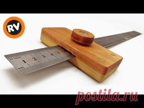 🔴 ➡️MUY UTIL y FACIL➡️ Como hacer un GRAMIL de madera CASERO para carpinteria | Ruler Marking Gauge