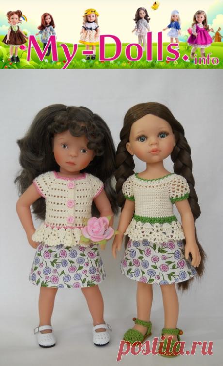 Выкройка юбки для кукол Паола Рейна и Минуш. Мастер-класс
