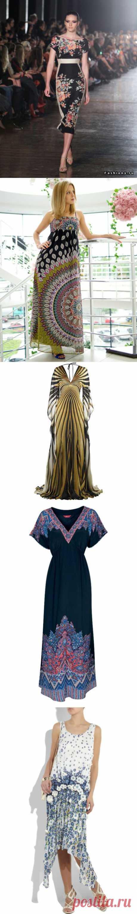 Платья из купонной ткани или из платков.