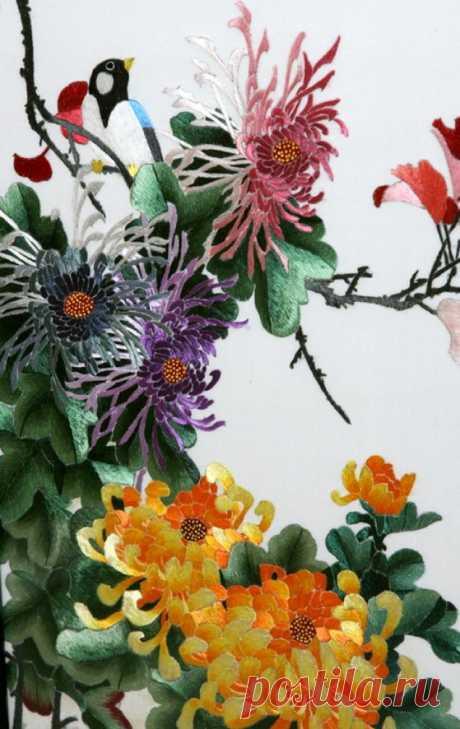Объемная вышивка + - Ярмарка Мастеров - ручная работа, handmade