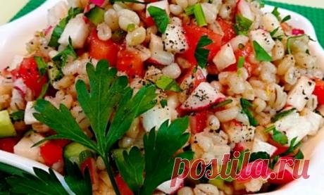 Овощной салат с перловой крупой!   еда и не только !   Яндекс Дзен