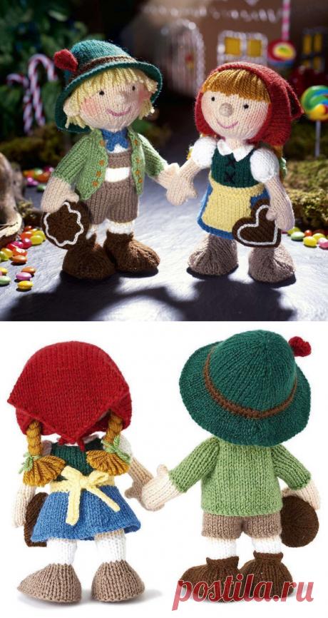 Вязаные спицами куклы: Гензель и Гретель от Алана Дарта - Мамины ручки