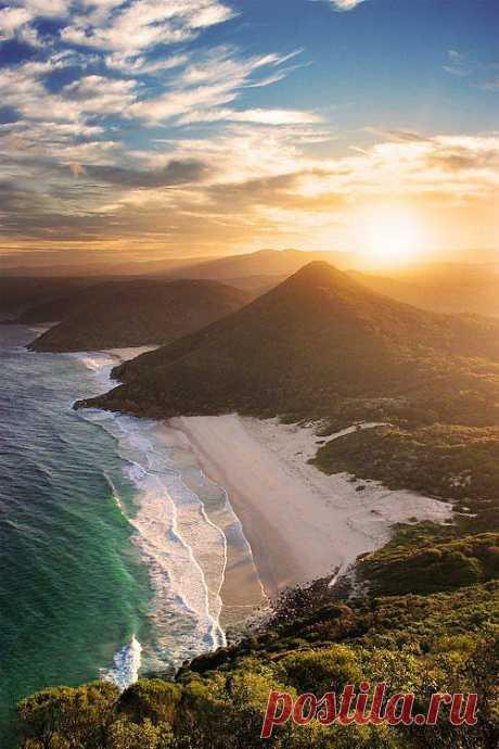Новый Южный Уэльс состоит из бесконечных девственных пляжей и захватывающих природных сокровищ.Zenith Beach, Новый Южный Уэльс, Австралия