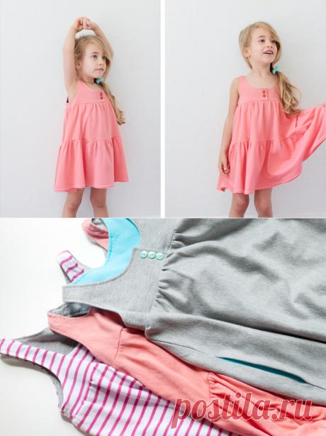 Трикотажное платьице для девочки своими руками — Рукоделие
