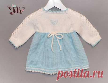 Mint green baby dress knit dress white dress merino dress baby | Etsy