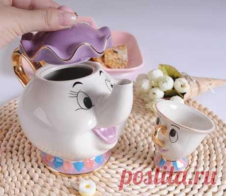Любителям мультиков ===================== набор из чайника и чашки прекрасный Рождественский подарок https://ali.pub/3w0po1  Помните из какого мультика эти персонажи?