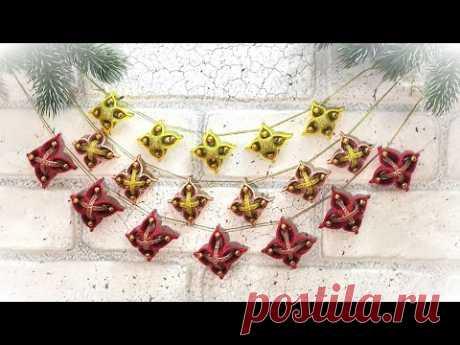 2 Идеи Новогодние гирлянды  из фоамирана своими руками 🎄 2 DIY Christmas ornament Wall Decoration