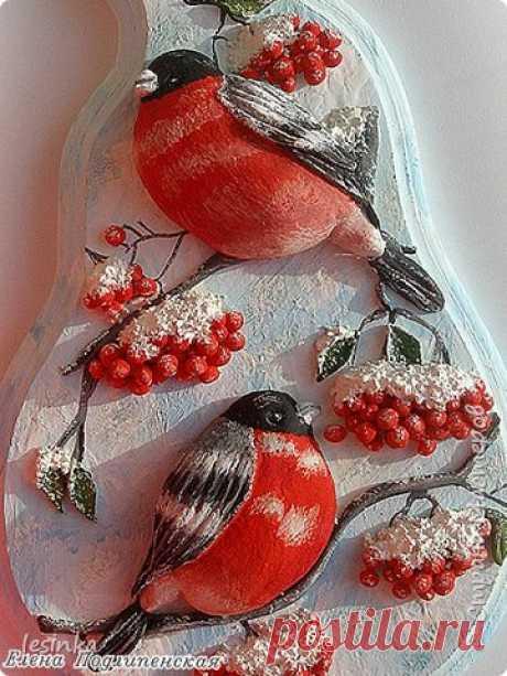 Ярко-красные птички | Страна Мастеров
