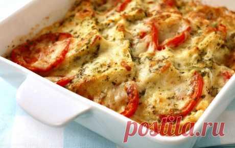 Рыба, запечённая с помидорами и сыром — Sloosh – кулинарные рецепты
