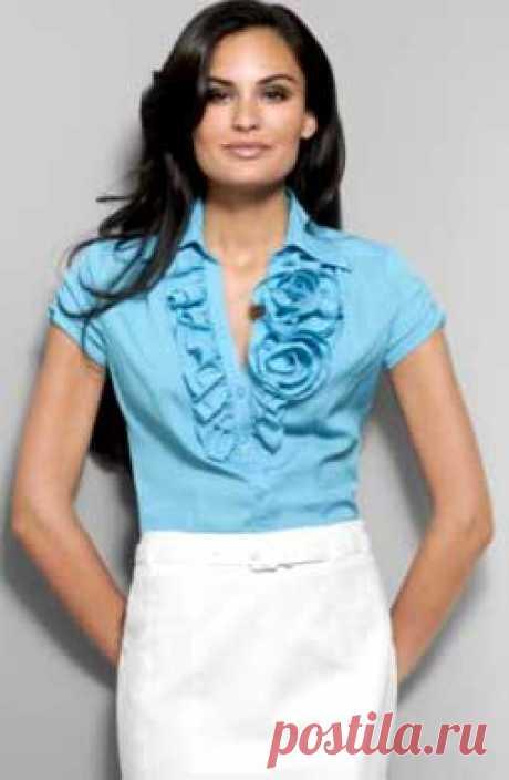Шьем романтичную блузку с оборками и розами!.