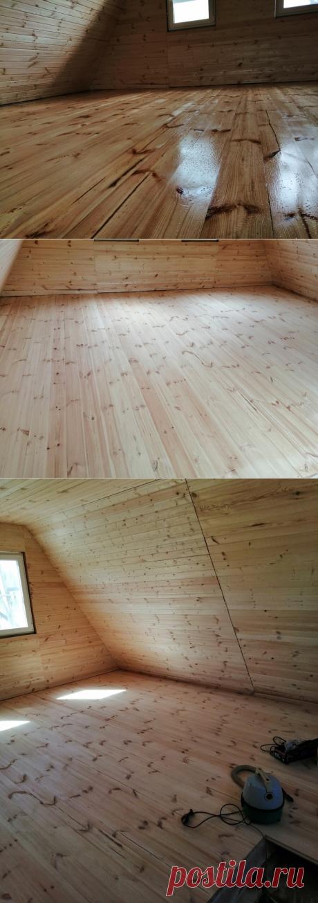 Обработка деревянного пола маслом: как, зачем и почему | Даня на даче: строю и показываю! | Яндекс Дзен