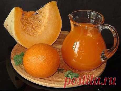 Pumpkin juice with orange \u000aKeep to yourself on a wall not to lose \u000a\u000apumpkin of 7 kg (net weight, without sunflower seeds and a peel) \u000awater, at me 15 liters on this amount of pumpkin left \u000aoranges of 8 pieces \u000asugar of 1,5 kg \u000alemon acid 2 of the Art. of l with a hill \u000a\u000aTo peel pumpkin, to remove sunflower seeds, to cut on segments or pieces, to lay in a pan together with pulp (the pulp will give density), to fill in with cold water to cover pumpkin. To bring to boiling, to cut in half 8 big oranges and to squeeze out with...