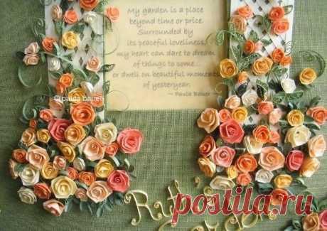 Розы из бумаги в технике квиллинг — DIYIdeas