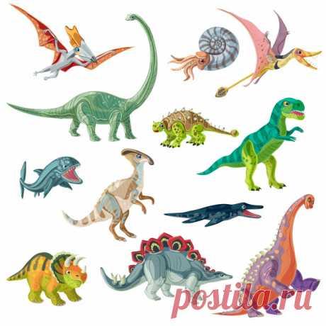 Descarga gratis Conjunto de animales del período jurásico Descubre miles de vectores gratis y libres de derechos en Freepik