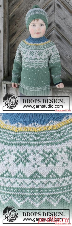 Детский свитер от Дропс - Жаккард - Страна Мам