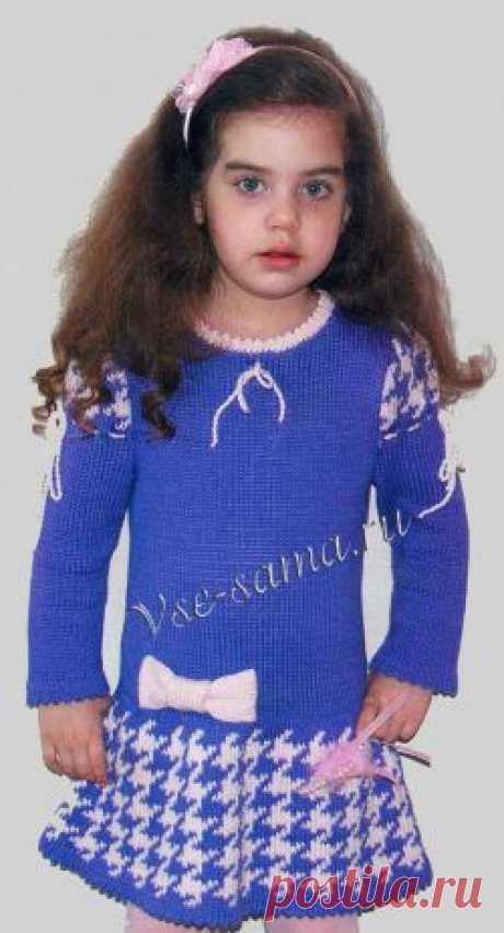 Платье с жаккардовым узором на 3-4 года