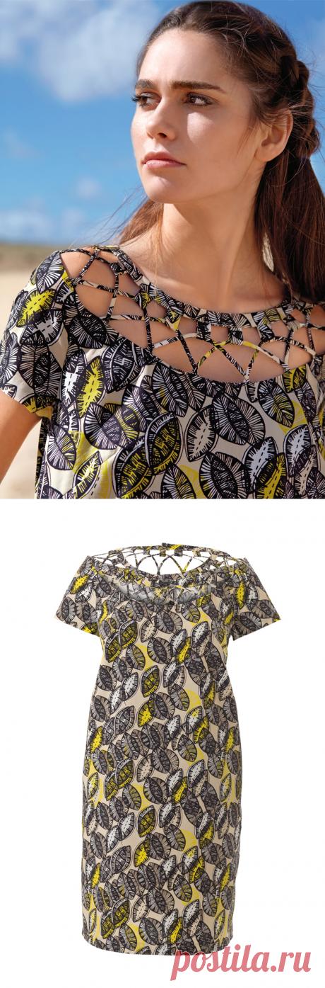 Как сшить платье с ажурным вырезом горловины — Мастер-классы на BurdaStyle.ru