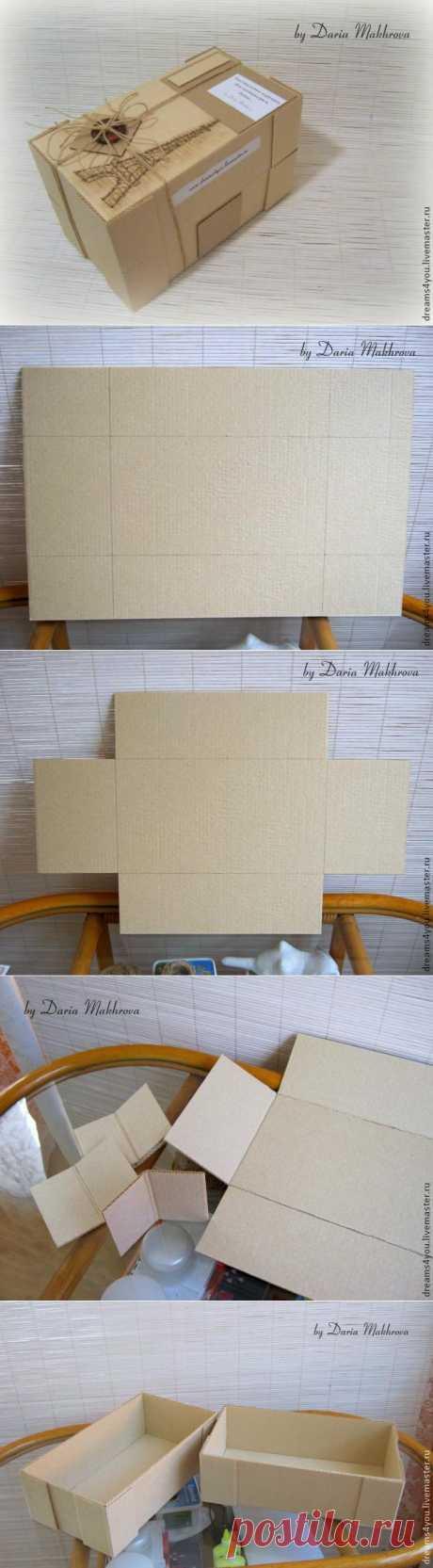 """Мастерим коробку с двойным дном для игрушки с """"приданным"""" - Ярмарка Мастеров - ручная работа, handmade"""