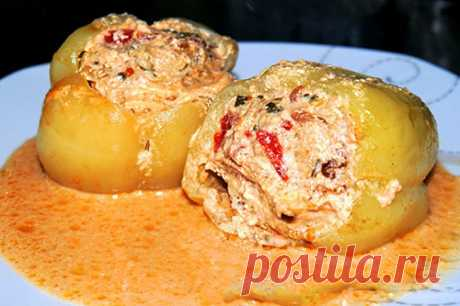 Перец фаршированный с добавлением сыра