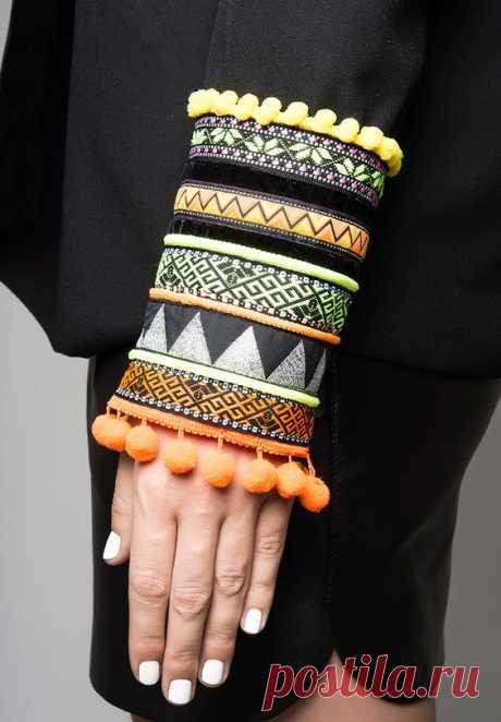 Декор на рукавах с этническими мотивами — Сделай сам, идеи для творчества - DIY Ideas