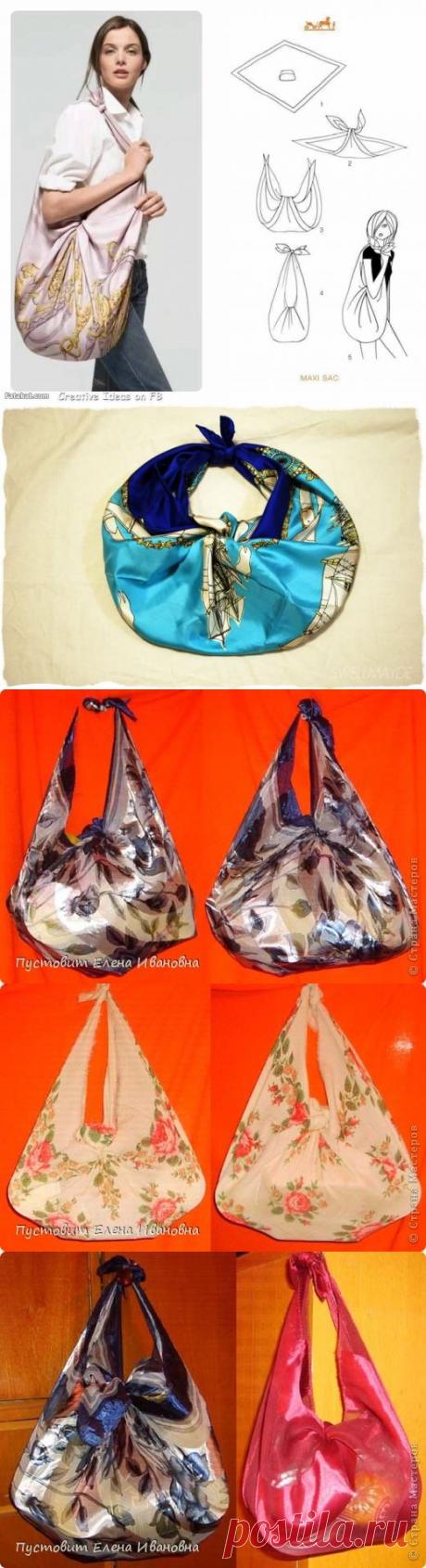 Старый добрый узелок или сумка из платка — Делаем руками