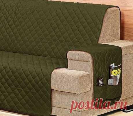 Простой и функциональный пример накидки на диван
