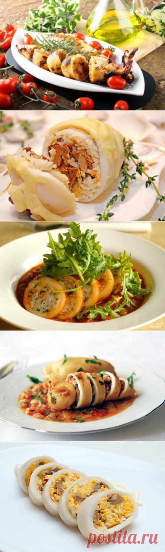 6 recetas de los calamares rellenados