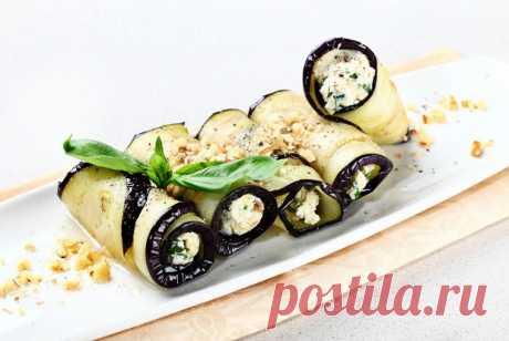 Рулетики из баклажанов с зеленью и сырным кремом рецепт – китайская кухня: закуски. «Еда»