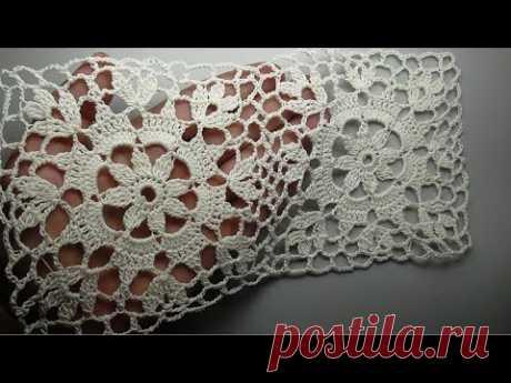 Crochet square motif patterns Kвадратный мотив крючком