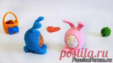 Пасхальный сувенир - кролик Мими | Вязаные крючком аксессуары Пасхальный кролик Мими крючком — это замечательный сувенир на большой праздник Пасха! В него вы можете вставить свое раскрашенное яйцо и подарить тем, кому особенно хочется подарить что-то особенное в этот день.Безусловно такой подарок принесет много-много радости маленьким...