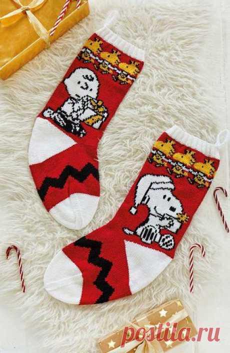Носки для подарков «Peanuts» | ВЯЗАНЫЕ НОСКИ