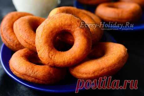 Пончики без дрожжей, рецепт классический, пошаговый рецепт с фото