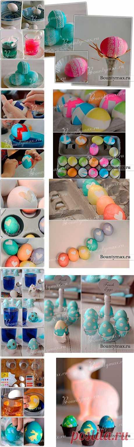 Яйца на пасху: кружева, наклейки и даже обычная изолента помогут вам сделать красивые яйца к пасхе