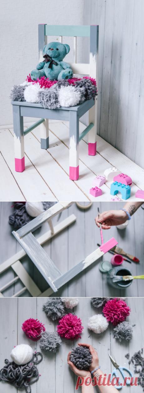 Как покрасить детский стульчик своими руками – реставрация и декор детского стула